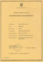 Registracijos pažymėjimas