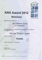 """Pasaulinis """"KNX Award"""" apdovanojimas"""